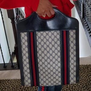 Blue Vintage Gucci Tote Shopper Handbag Authentic